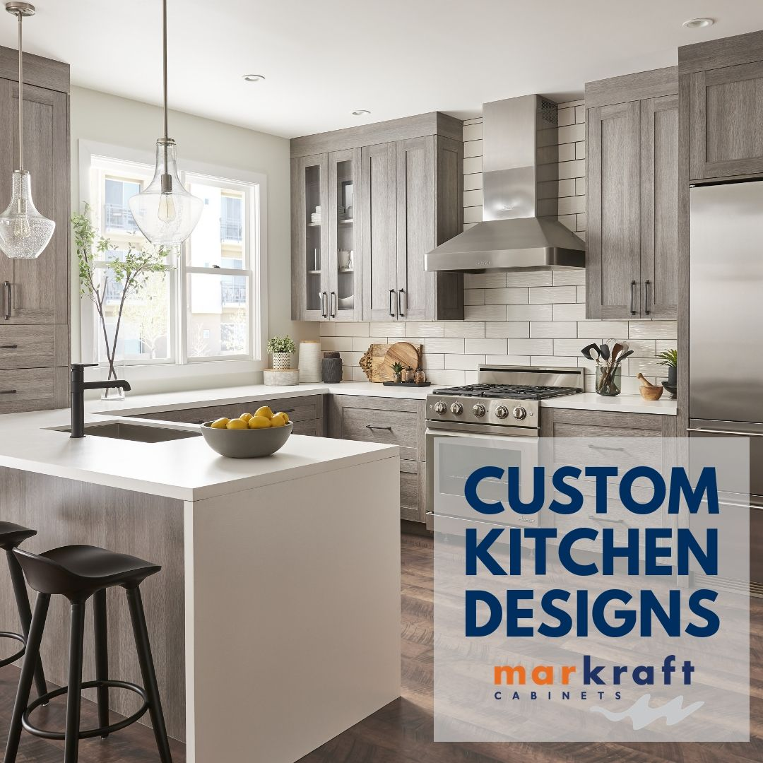 Since Rustic Woods Are Rising In Popularity Markraft Designer Amanda Fisher Said It S A Great Material T Custom Kitchens Design Kitchen Design Custom Kitchen