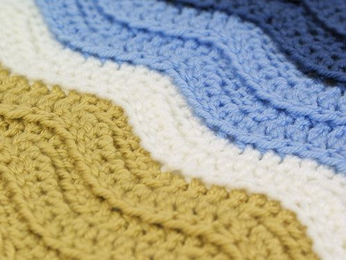 Ribbed Ripple/Turtle Beach blanket DONATIONWARE crochet pattern ...
