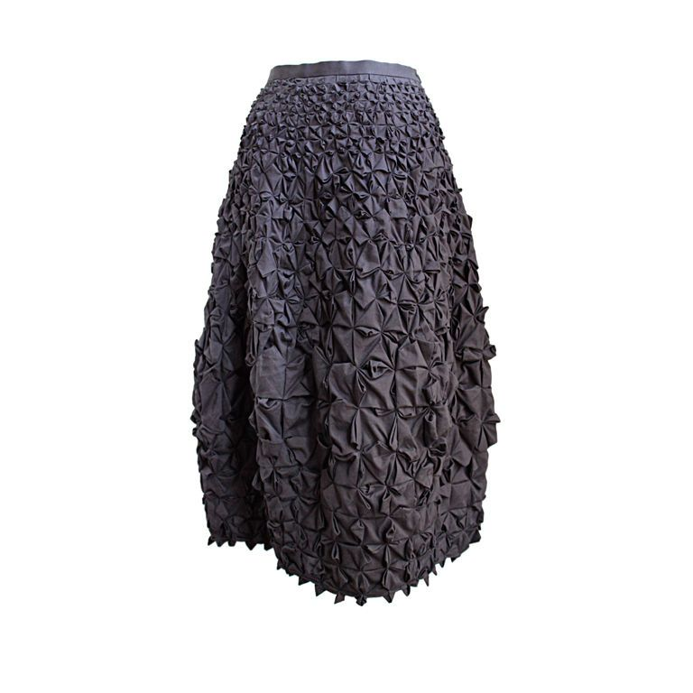 ISSEY MIYAKE grey origami skirt | From a collection of rare vintage skirts at http://www.1stdibs.com/fashion/clothing/skirts/