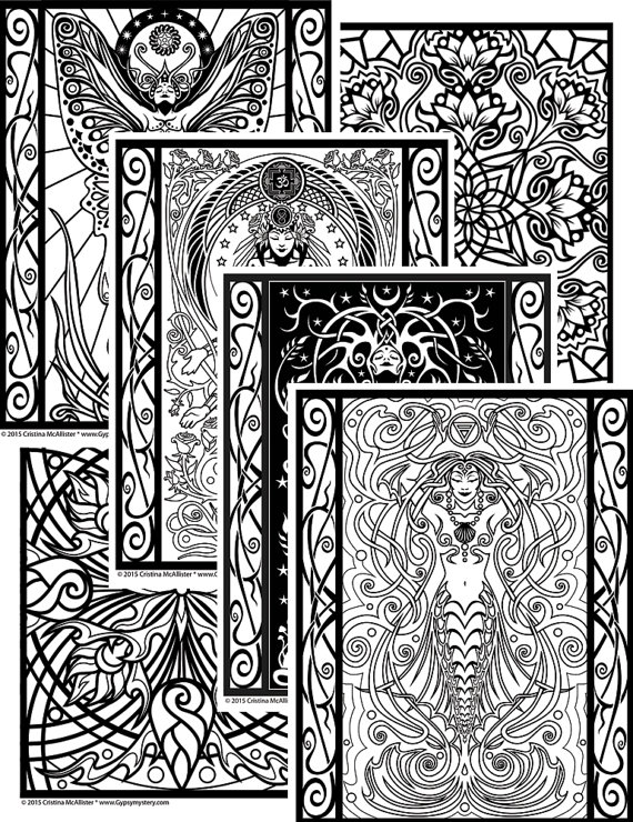 Sacred Beauty Coloring Book Digital Download Edition Adult