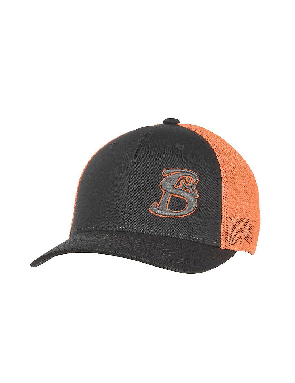 Stackin Bills Grey with Neon Orange Circle Logo and Neon Orange Mesh Back Flexfit  Cap  552db81ffff1