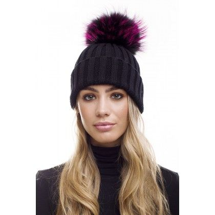 c88547c7b Ivory and Grey Angora Wool Fur Bobble Hat | Дело в шляпе | Fur ...