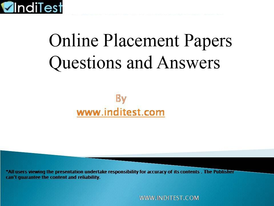 Placement Papers with Answers
