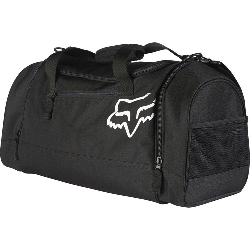 Fox 180 Black Duffle Bag At Mxstore Black Duffle Bag Duffle Bag Fox Racing