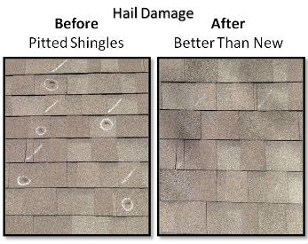 Hail Damage Can Destroy A Roof Completely. Check Below Roof Before And  After Damage.