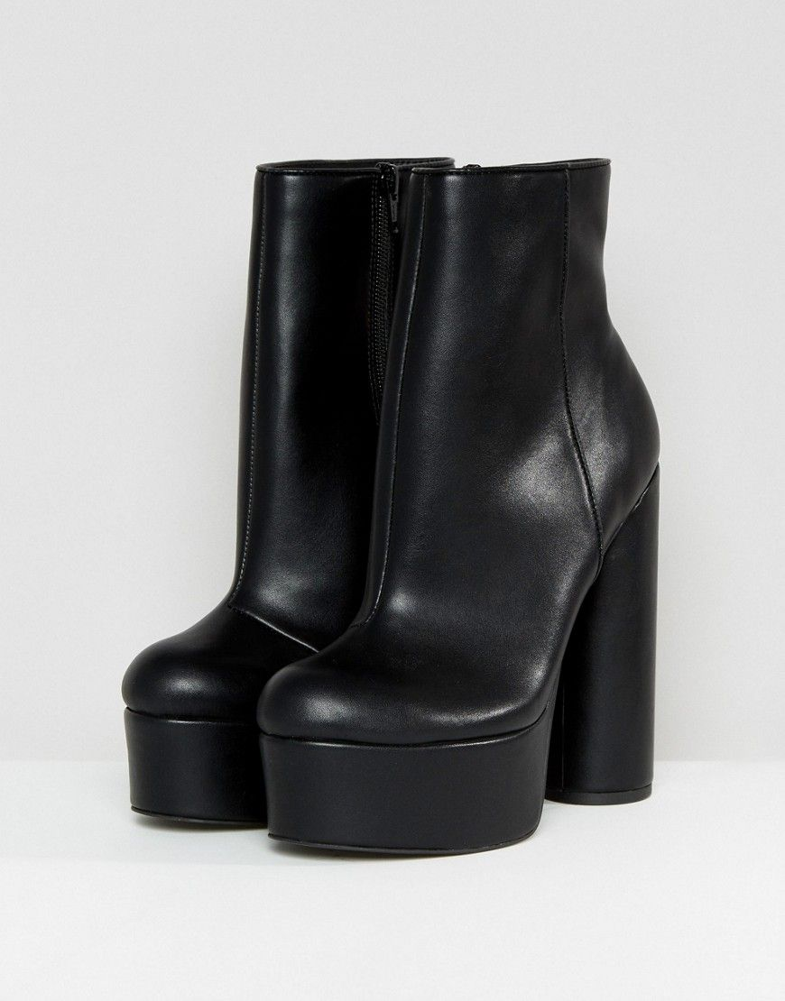 f9dbcc12173a ASOS ELECTRIFYING Platform Ankle Boots - Black