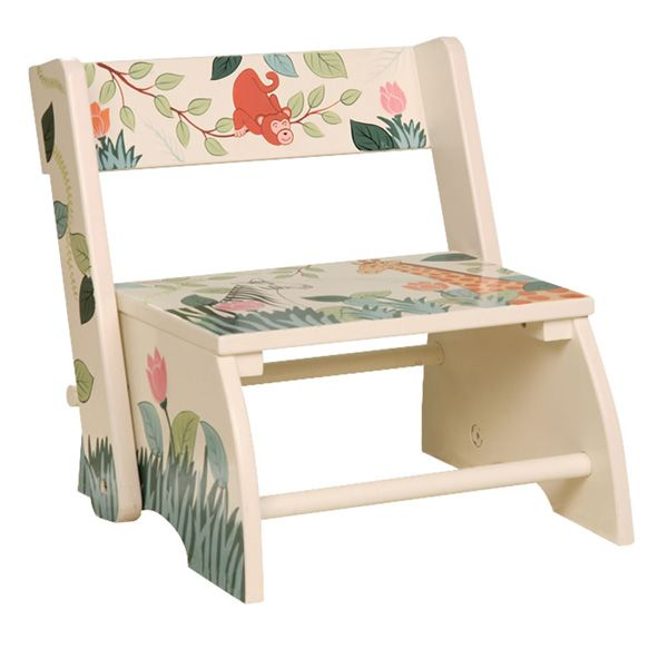 Wooden Step Stool and Chair - Jungle  sc 1 st  Pinterest & Wooden Step Stool and Chair - Jungle | Kids | Pinterest | Wooden ... islam-shia.org