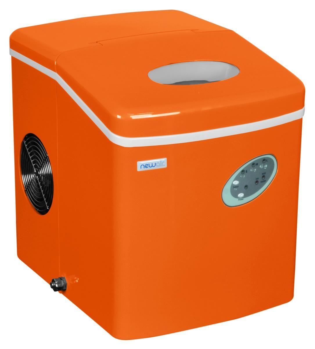 Newair Ai 100vo 28 Pound Portable Ice Maker In Orange Portable