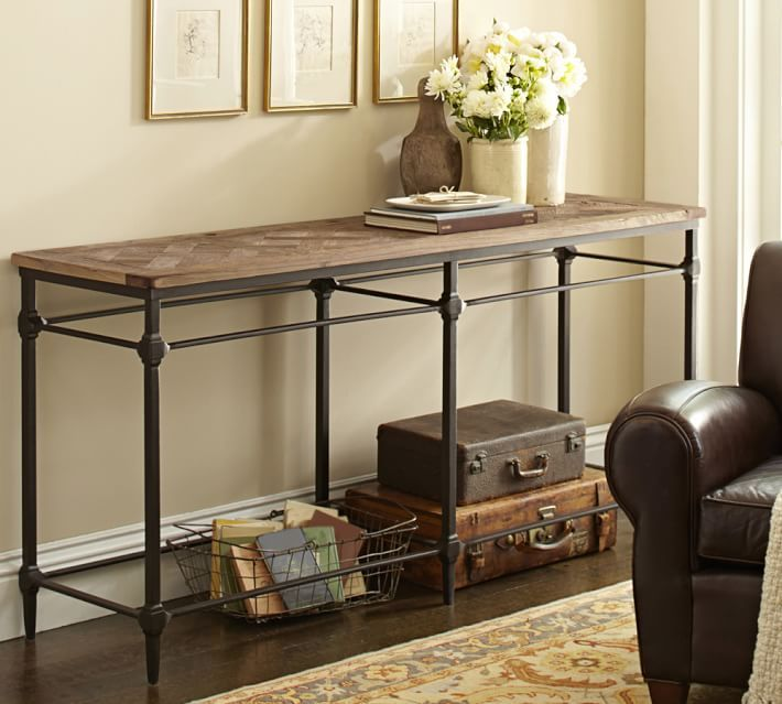 Parquet Reclaimed Wood Console Table-With a beautifully patterned ...