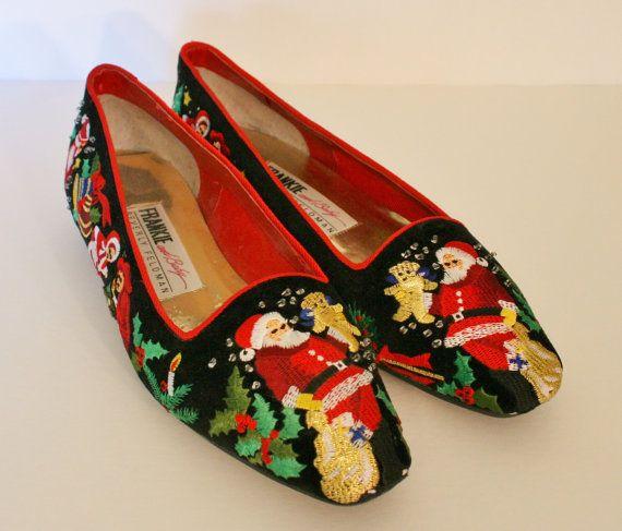 Christmas shoes, Shoes, Vintage christmas