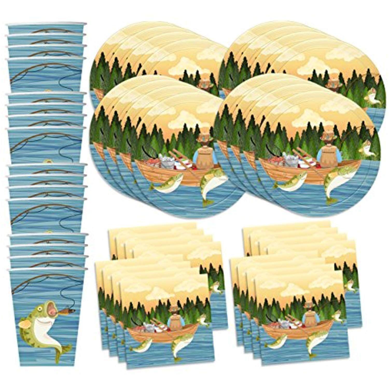 Gone Fishing Birthday Party Supplies Set Plates Napkins