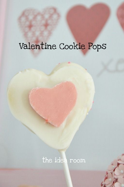 Valentine Cookie Pops via Amy Huntley (The Idea Room)- one of the most adorable things ever- who care if they aren't the healthiest