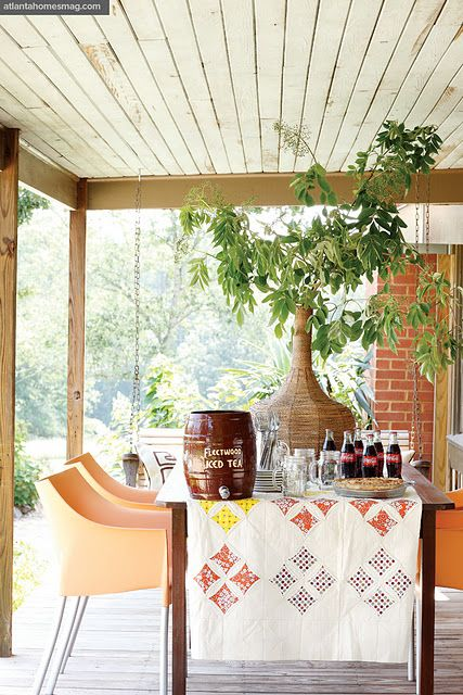 Porch at the farmhouse