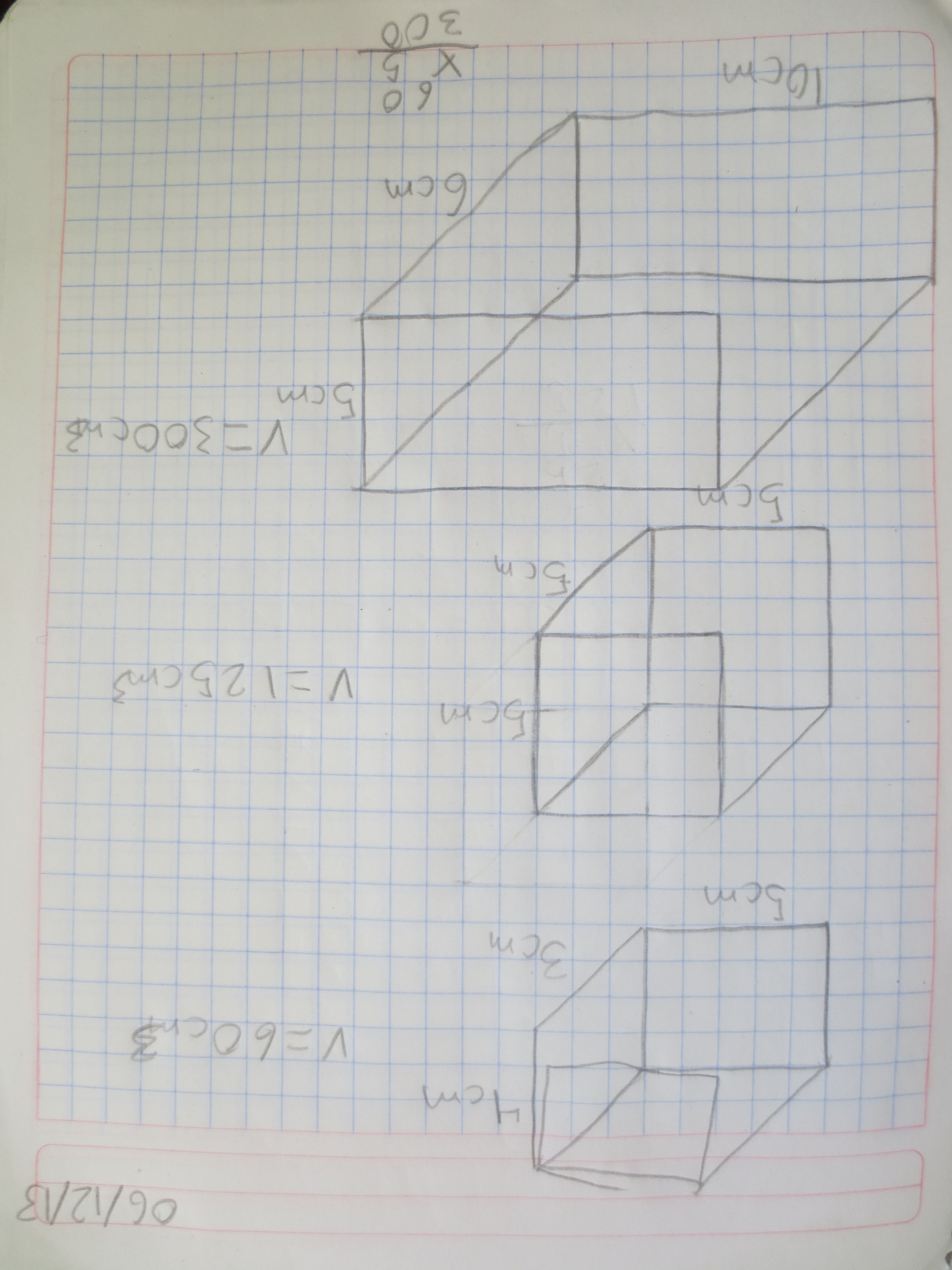 Viernes  Producto de la actividad I: cálculo de volúmenes de