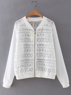 Shop White Long Sleeve Rib-knit Cuff Crochet Coat online. SheIn offers White Long Sleeve Rib-knit Cuff Crochet Coat & more to fit your fashionable needs.