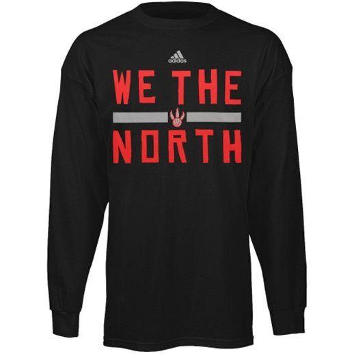 pick up f45e6 06fdf adidas Toronto Raptors Black We the North Long Sleeve T ...