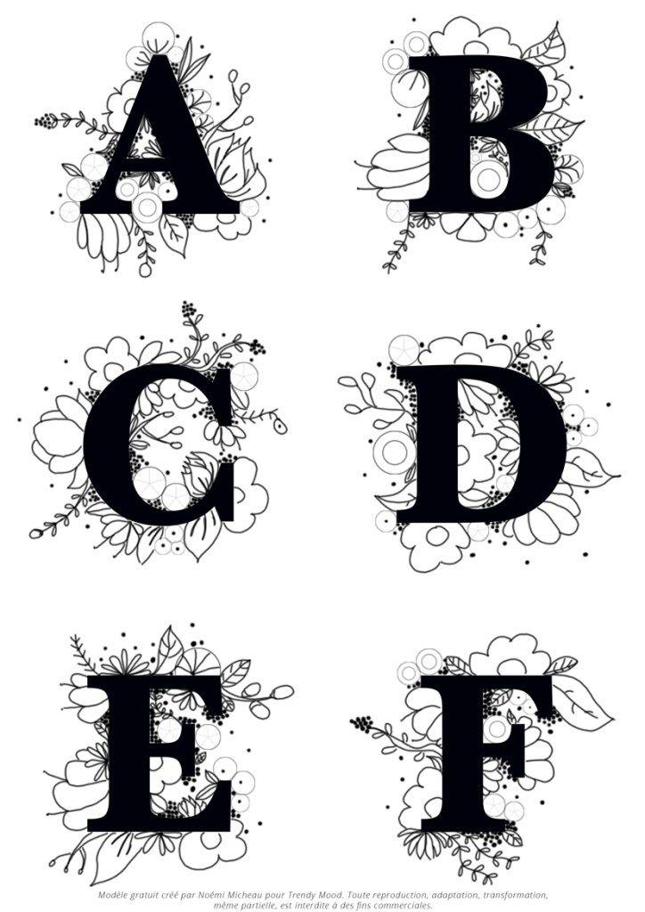 ABC fleuri: modèle gratuit à télécharger – Trendy Mood – Lifestyle Magazine   – Kurdela nakışı ve El nakışı, Nakış düğümleri