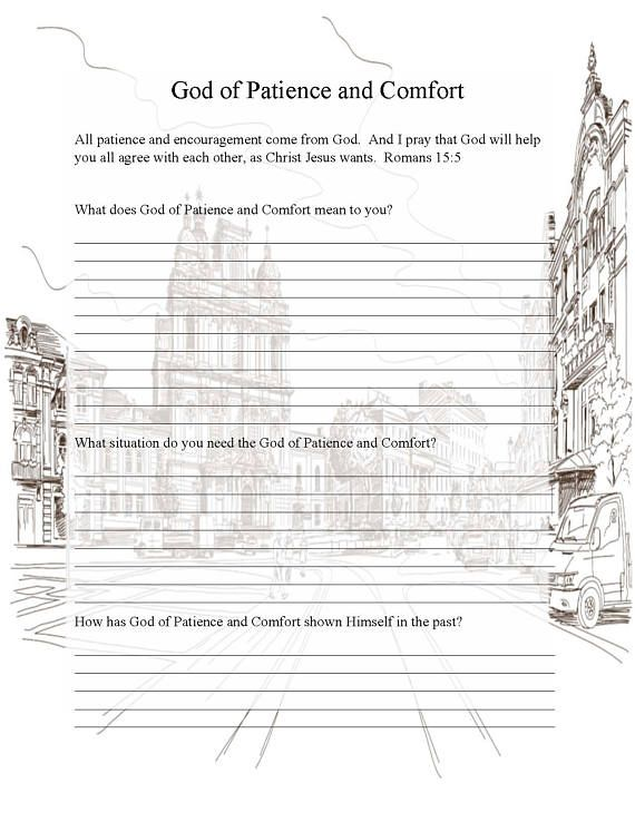 Names of God Coloring Pages, Prayer Journal, Adult Coloring Page