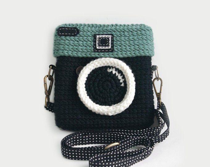 Crochet Instagram Purse - Love IG (Original Color) #camerapurse