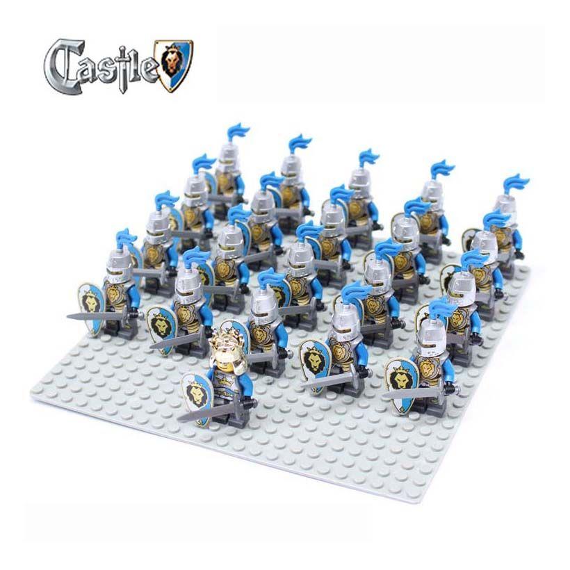 21 pcs Dragon Knights Armor Medieval Age Castle Kingdoms Minifigures Lego Toys