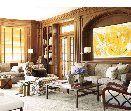 Splendid Sass DAVID KLEINBERG DESIGN IN LONG ISLAND Living Room LoungeLiving