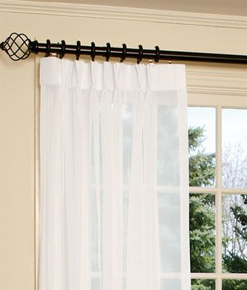 Black Curtain Rod And Rings Drapes To Be In This Style Pinch