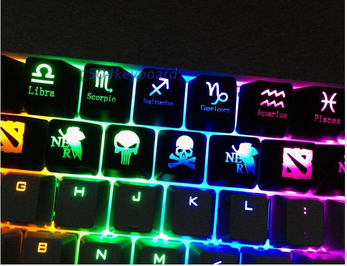 Keycaps Key caps for backlight Backlit mechanical Gaming keyboard R4