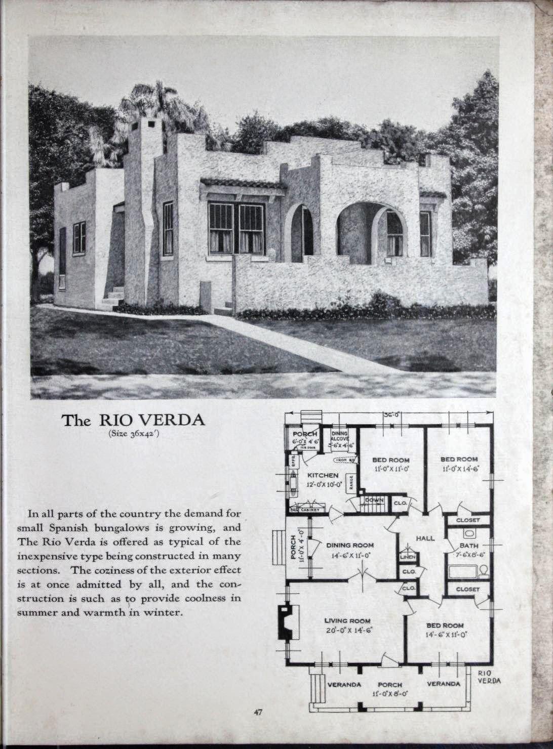 Art Deco House Plans Art Deco Resource Spanish Bungalow