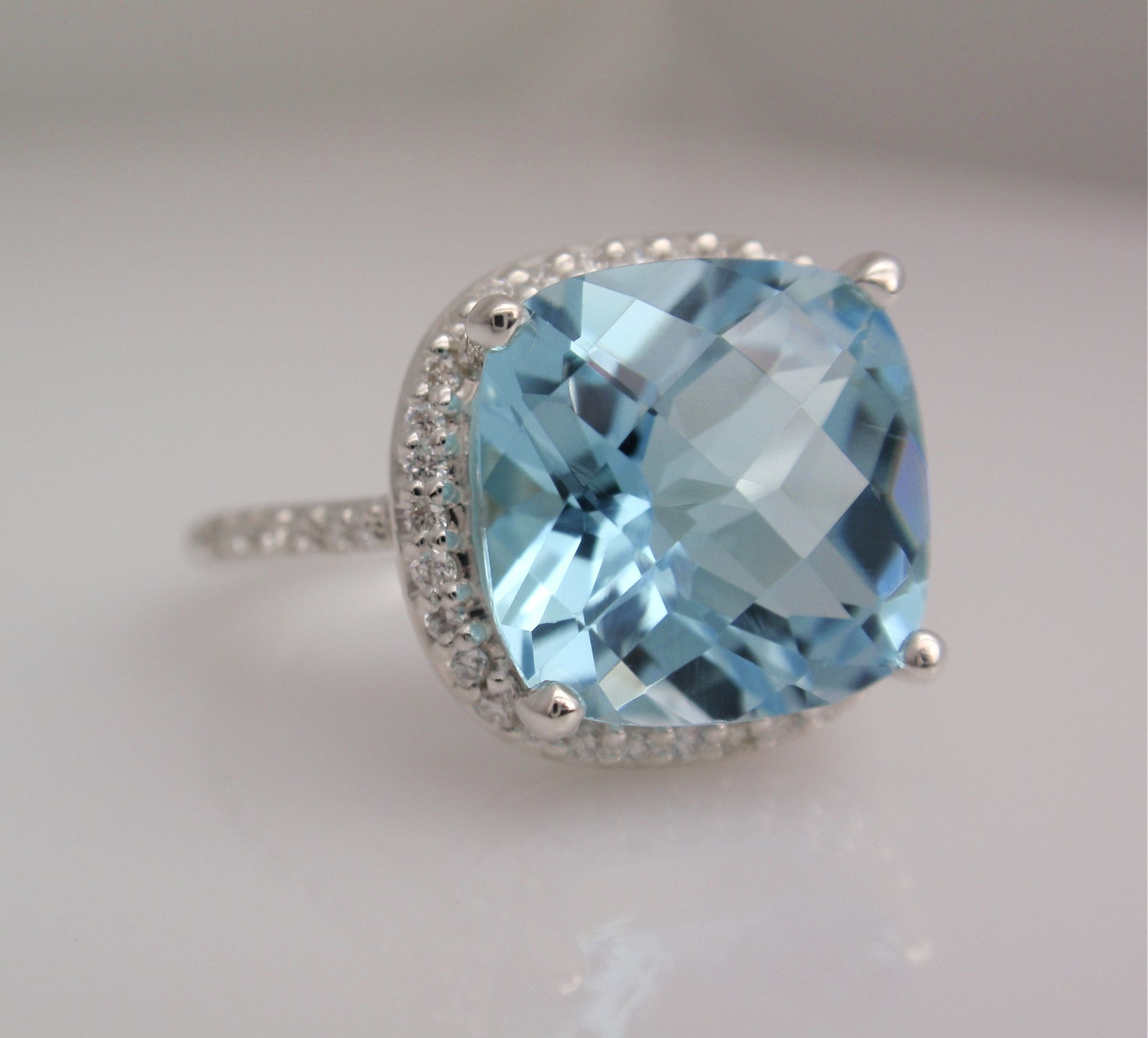Swiss Blue Topaz ring by Ring Finger Studio