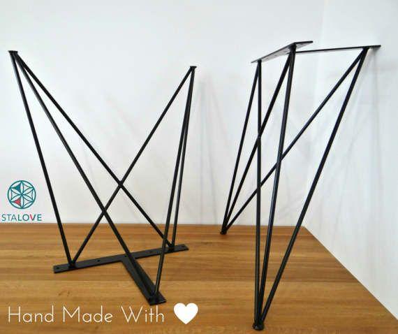 Steel Dining Table Legs 2 Legs Butterfly Metal Hairpin Table