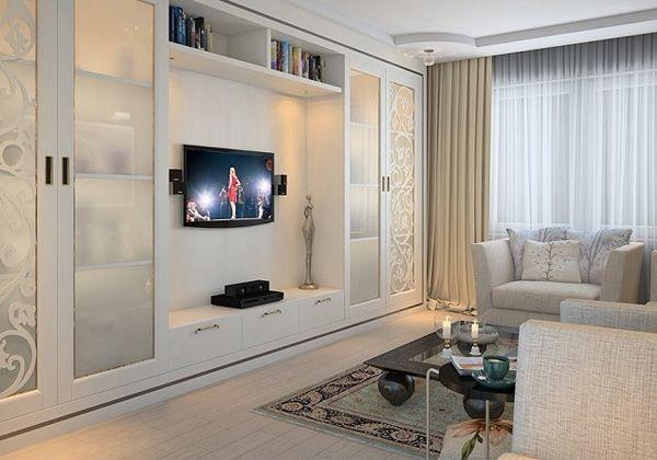 дизайн гостинной комнаты 19 квм фото в современном стиле 7