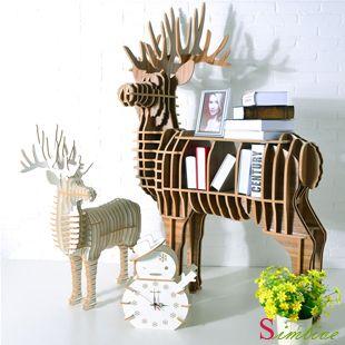 Deer Table Deer Bookself For Home Decoration Fashion Modern Living Room Decoration Animal Decor Novelty Item Decor Cardboard Furniture Furniture Design Modern