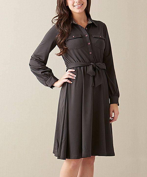 582b3b32117 Look at this Matilda Jane Clothing Charcoal Ink Blot Dress - Women on   zulily today!