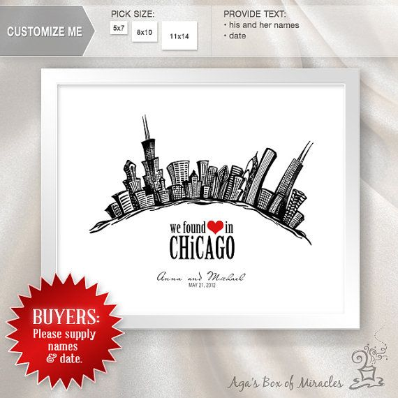We found love in Chicago is a one of a kind personalized ...