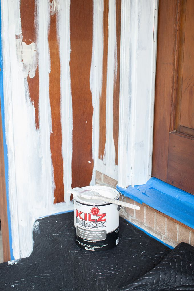 the best water based stain blocking primer to use to paint wood paneling from the 1970 39 s. Black Bedroom Furniture Sets. Home Design Ideas