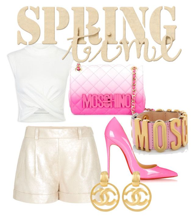 """""""Untitled #51"""" by missteytey on Polyvore featuring Diane Von Furstenberg, Christian Louboutin, Moschino and Chanel"""