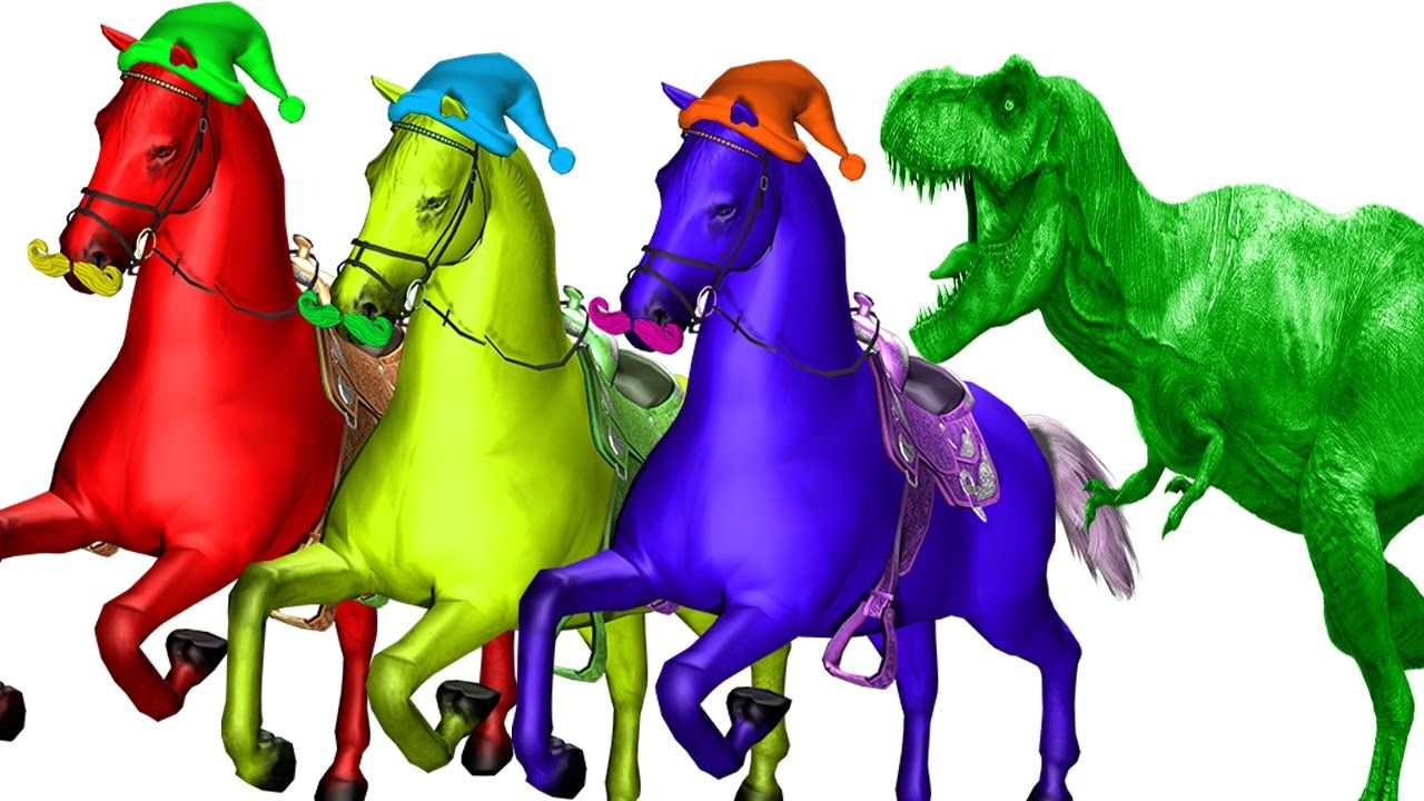 Horse Vs Dinosaur Cartoons For Children Nursery Rhymes Dinosaurs Songs