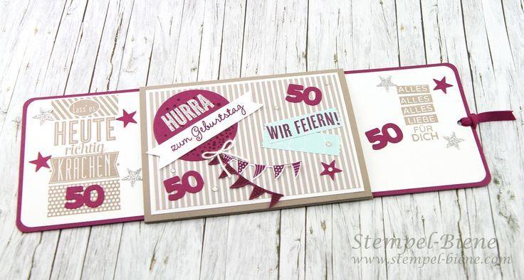 Ziehkarte Zum 50 Geburtstag Anleitung Ziehkarte
