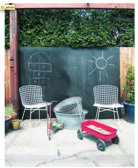Try Chalkboard Paint Outside For A Fun Play Area