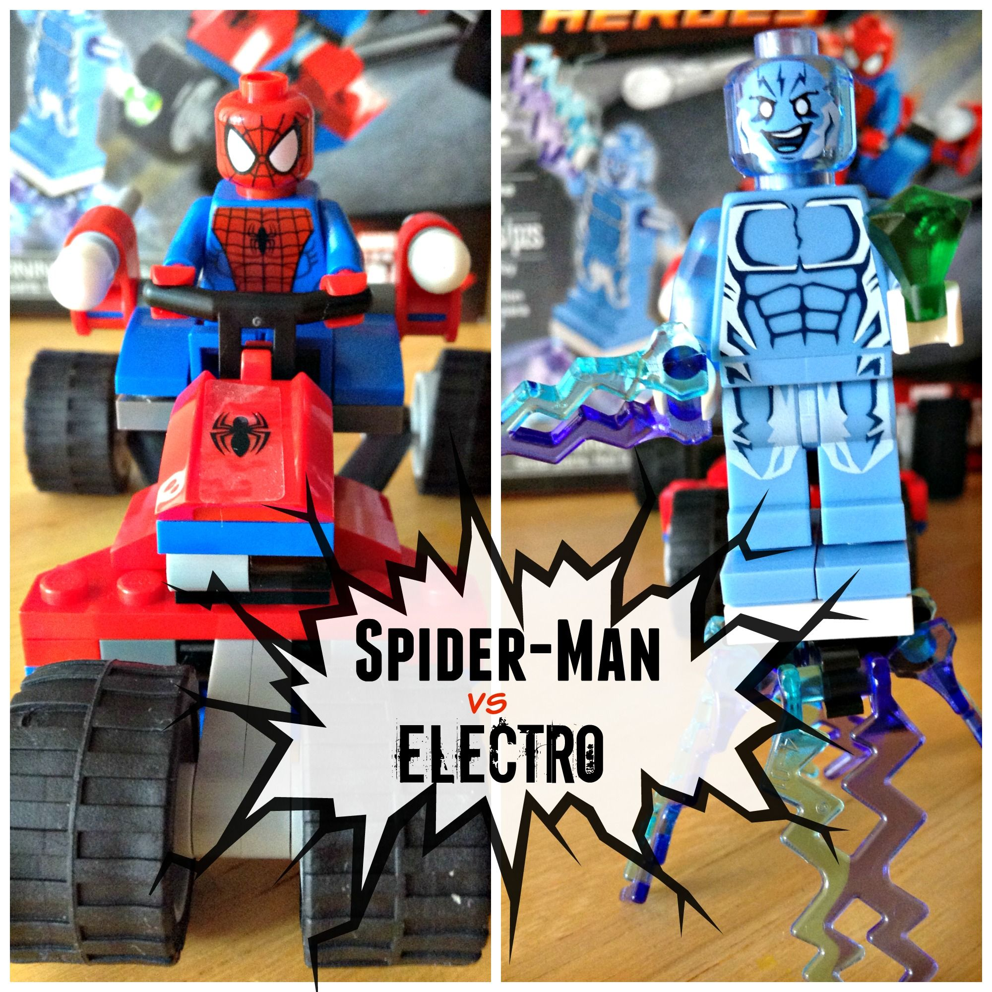 Lego Spider Man vs Electro Who s Going to Win Find Out