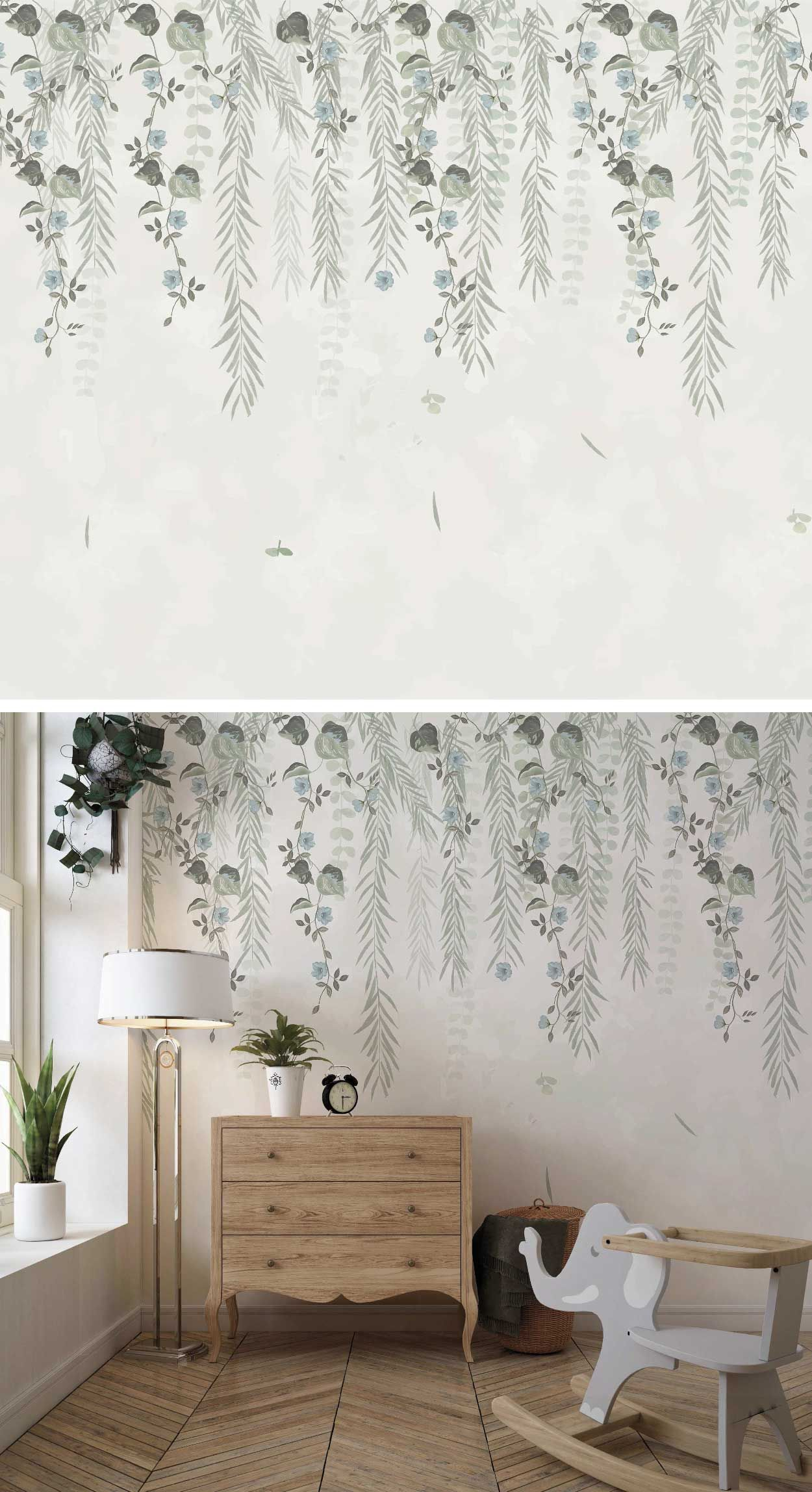 Leaves Mural Wallpaper Removable Leaves Wallpaper Hanging Etsy In 2021 Decor Leaf Wallpaper Removing Old Wallpaper