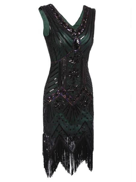 2cf470b2 Dark Green 1920s Sequined Flapper Dress – Retro Stage - Chic Vintage Dresses  and Accessories
