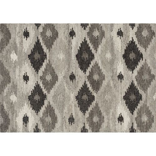 Akina Grey and Charcoal Rectangular: 3 Ft 6 In x 5 Ft 6  In Rug $349
