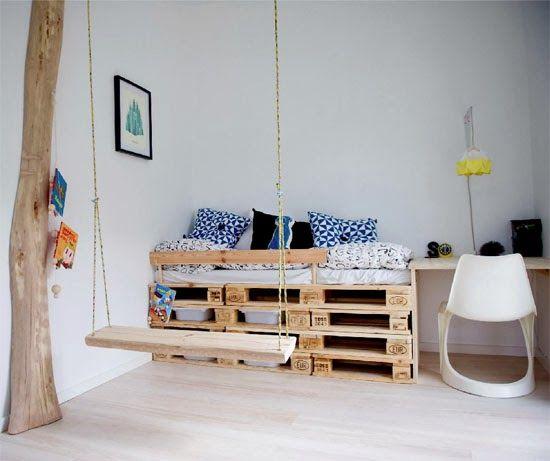 Cool Pallet Bed For Kids. Kids Room Inspiration
