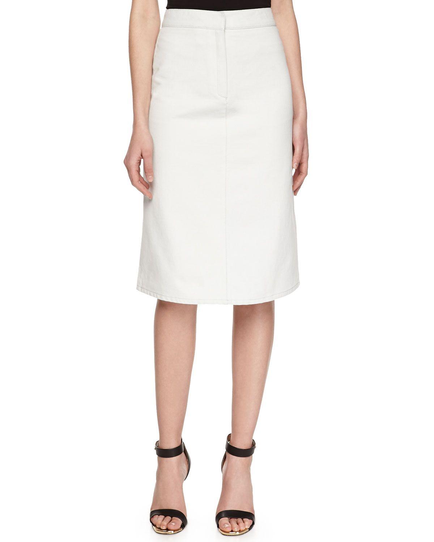 57d2d29ce Stella McCartney A-line Twill Skirt, Light Blue, Women's, Size: 27