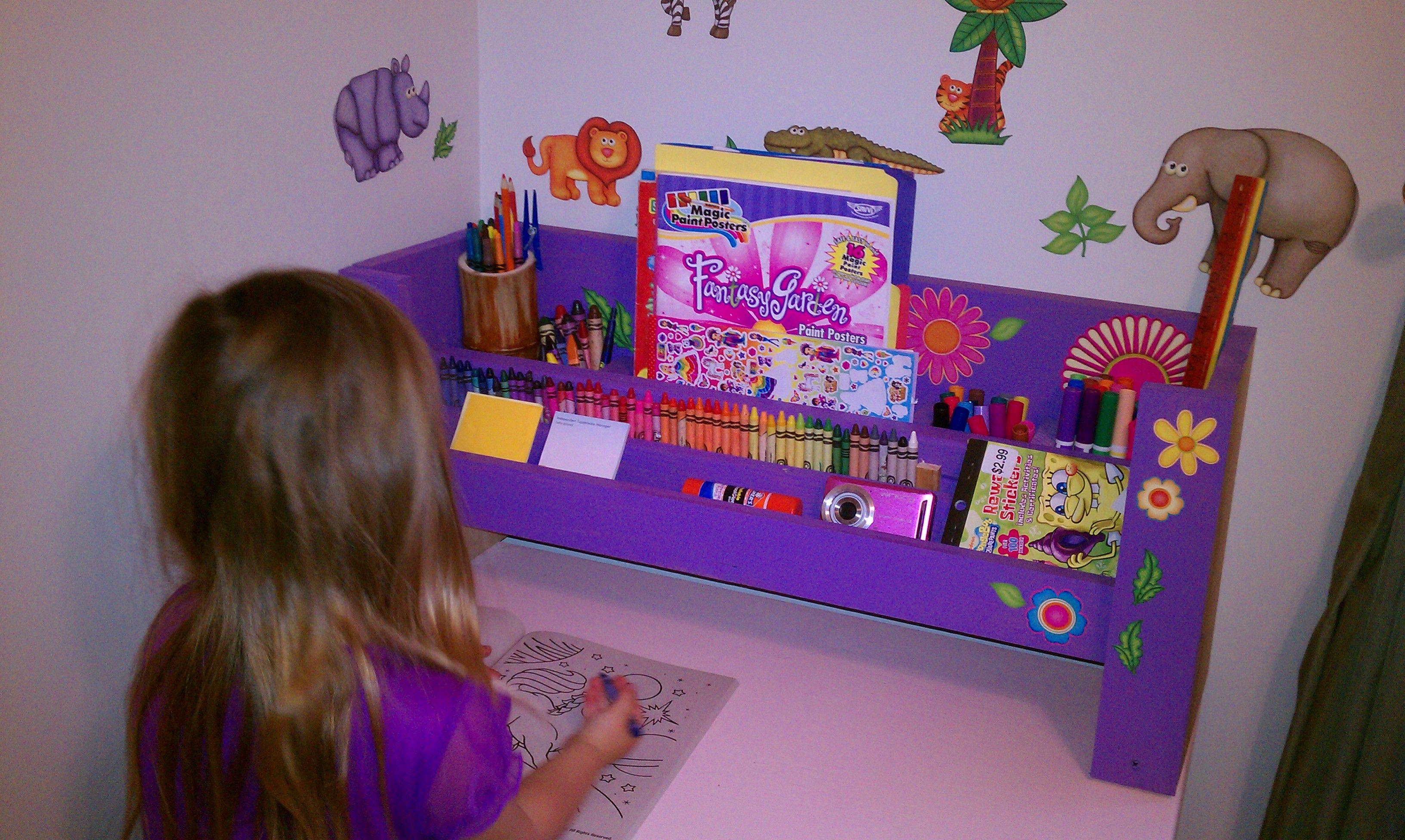 kids desk organizer organisieren kids desk organization desk rh pinterest com