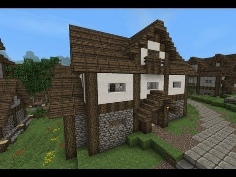 Minecraft Gundahar Tutorials Medieval House 4 Minecraft House Designs Minecraft Farm House Minecraft House Plans