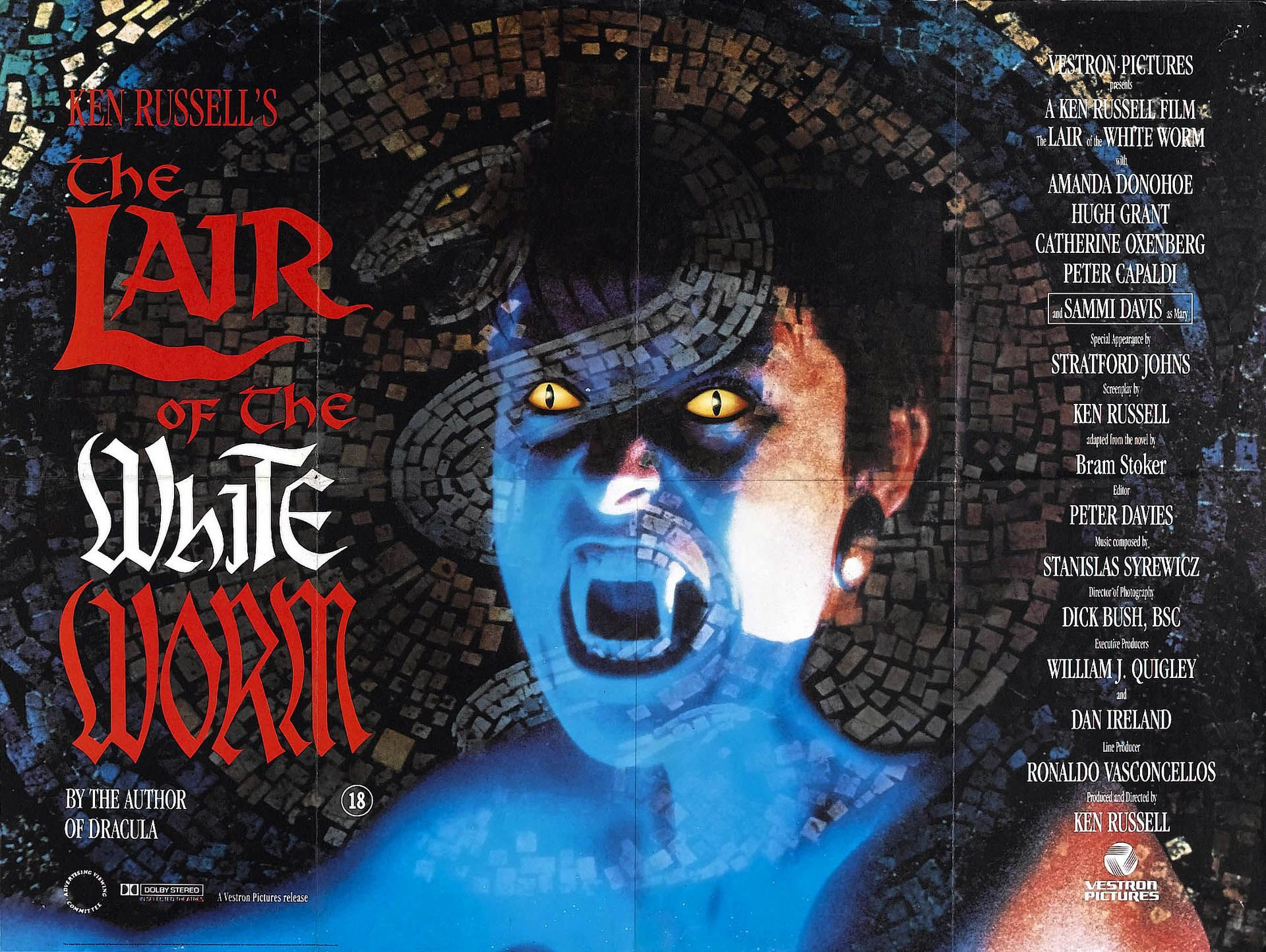 1988 Movie Posters: The Lair Of The White Worm (1988)