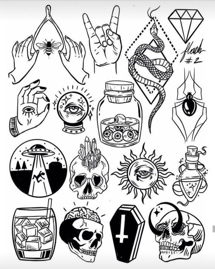 Ideias De Tatuagem Tattoo Flash Art Doodle Tattoo Tattoos