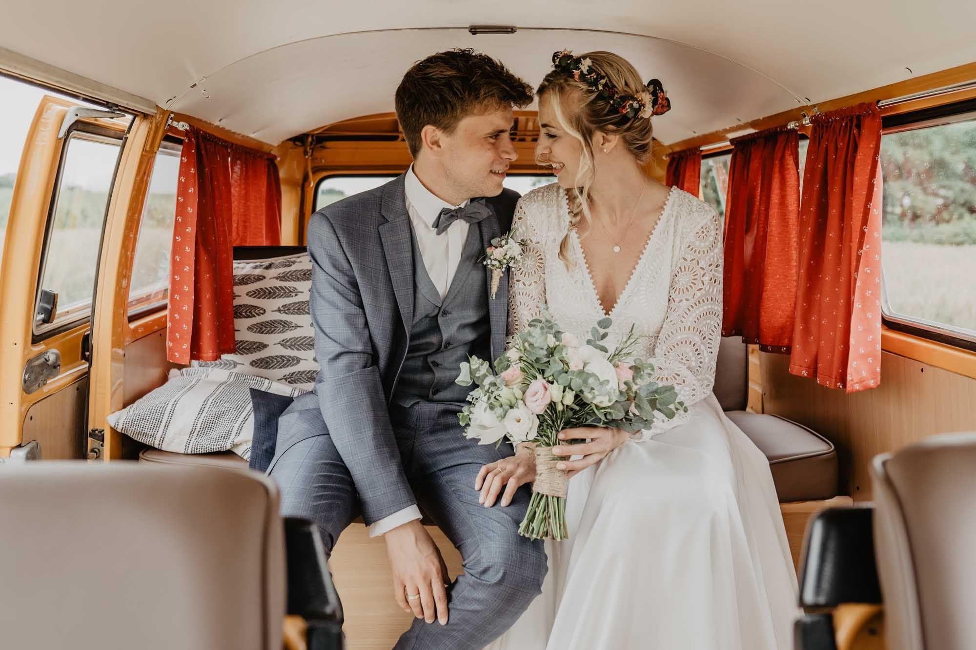 Vw Bus Vintage Wedding Unsere Weingartenhochzeit Hochzeitskleid Spitze Kleid Standesamt Hochzeit